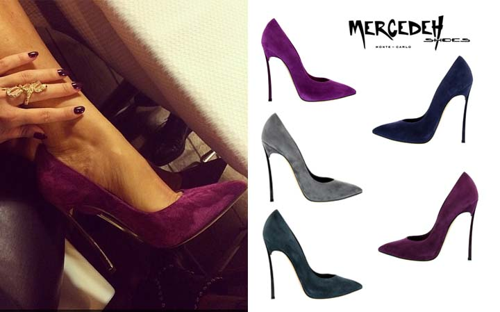 Suede heels, Mercedeh-Shoes FW2014