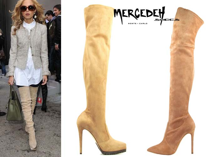Camel thigh high, Mercedeh-Shoes FW2014